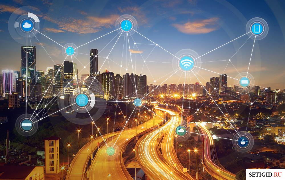 виртуальные интернет сервисы на фоне города