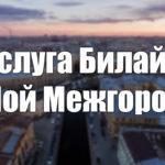 Услуга Билайн «Мой Межгород»: описание, подключение и отключение