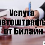 Услуга «Автоштрафы» от Билайн: управление и отключение опции