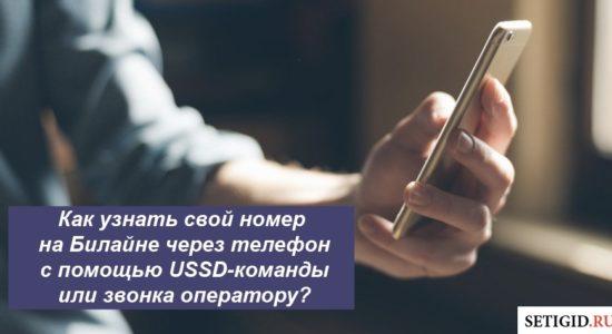 Как узнать свой номер на Билайне через телефон с помощью USSD-команды или звонка оператору?
