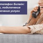 Домашний телефон Билайн: тарифы, подключение и отключение услуги