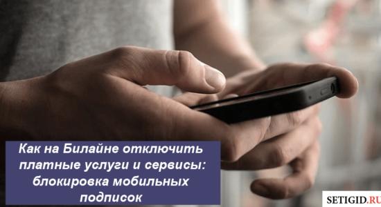 Как на Билайне отключить платные услуги и сервисы: блокировка мобильных подписок