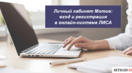 Личный кабинет Мотив