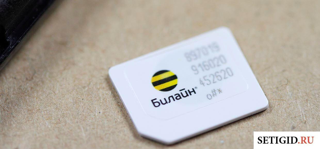 SIM-карта билайн