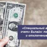 «Специальный авансовый счет» Билайн: подключение и отключение услуги