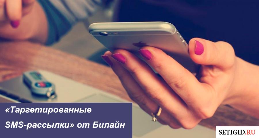 Таргетированные SMS-рассылки от Билайн