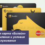 Банковская карта «Билайн»  —  оформление и условия обслуживания
