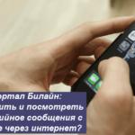 MMS портал Билайн: как отправить и посмотреть мультимедийное сообщения с компьютере через интернет?