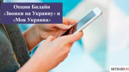 Опции Билайн «Звонки на Украину»