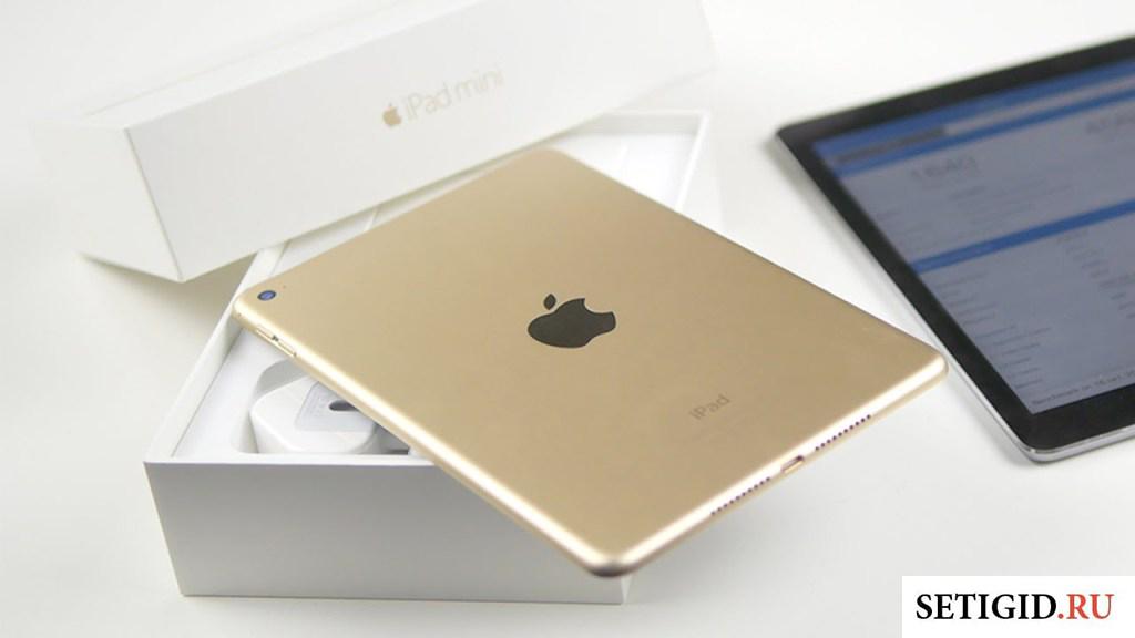 iPad на упаковке