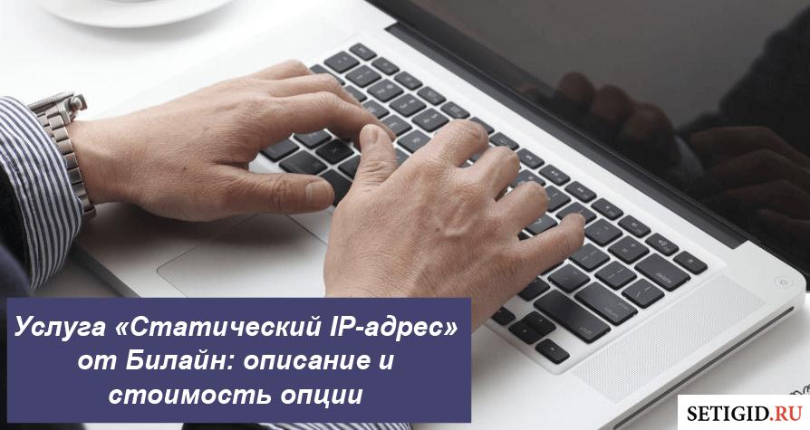 Услуга «Статический IP-адрес» от Билайн