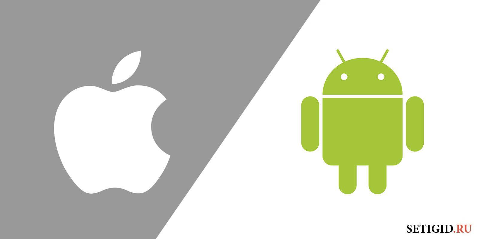 Иконки Android и iPhone