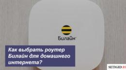Как выбрать роутер билайн для домашнего интернета