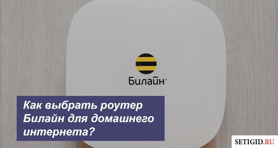 Как выбрать роутер Билайн для домашнего интернета?