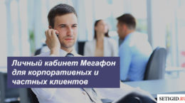 Личный кабинет Мегафон для корпоративных клиентов