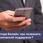 Номер оператора Билайн: как позвонить в службу технической поддержки?