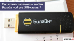 Как разлочить модем Билайн под все SIM-карты