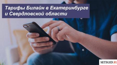 Описание действующих тарифов Beeline в Екатеринбурге и Свердловской области для телефона, планшета и модема