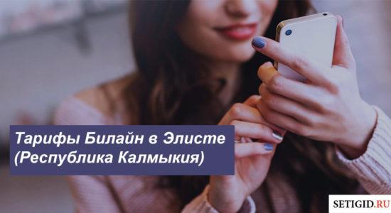 Описание действующих тарифов Билайн в Элисте (Республика Калмыкия) для смартфона, планшета и модема
