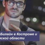 Описание актуальных тарифных планов Билайн в Костроме и Костромской области для мобильного телефона, планшета и модема