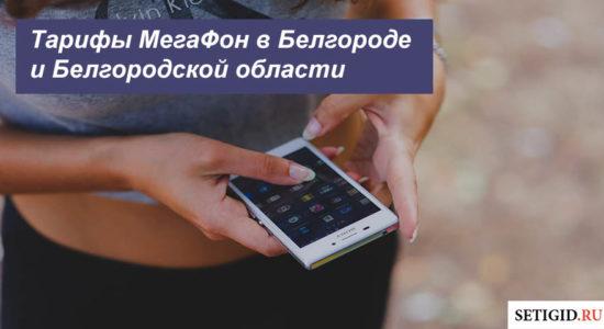 Описание тарифных планов МегаФон в Белгороде и Белгородской области