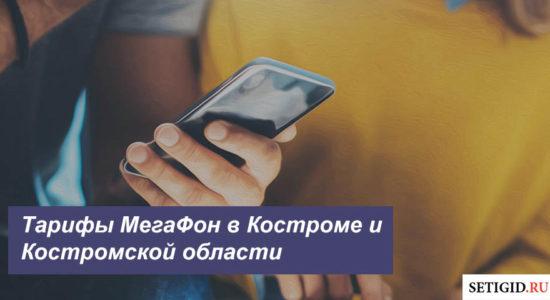 Описание тарифных планов МегаФон в Костроме и Костромской области