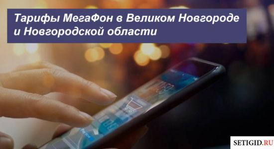 Описание тарифных планов MegaFon в Великом Новгороде и Новгородской области