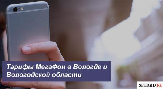 Описание тарифов МегаФон в Вологде и Вологодской области